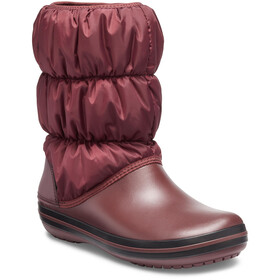 Crocs Winter Puff Bottes Femme, burgundy/black